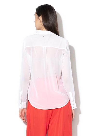 GUESS JEANS Camasa transparenta cu detalii cu strasuri Femei