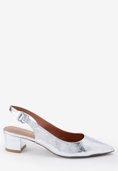 NEXT Pantofi slingback cu varf ascutit si model crocodil Femei