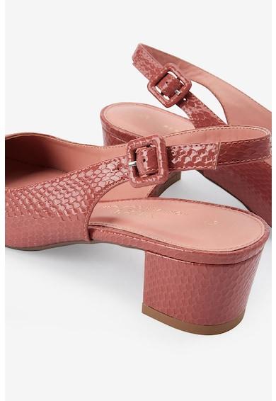 NEXT Pantofi slingback de piele ecologica, cu model reptila Femei