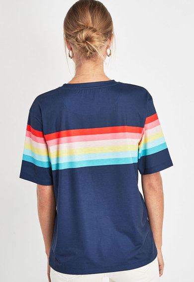NEXT Tricou cu decolteu rotund si model colorblock Femei