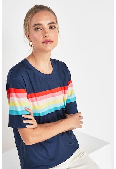 NEXT Tricou cu decolteu rotund si model colorblock Femei