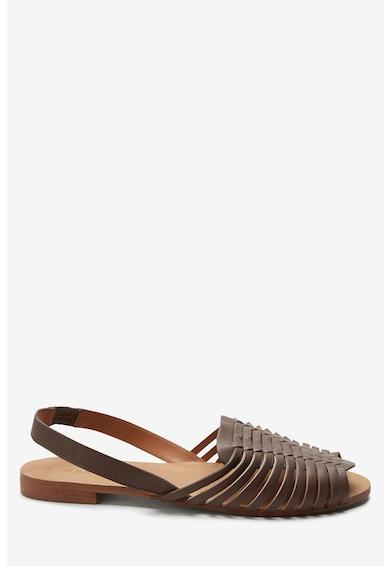 NEXT Sandale slingback de piele cu model impletit Femei