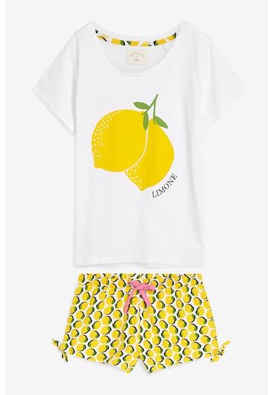 NEXT Pijama cu pantaloni scurti si imprimeu cu lamaie Femei