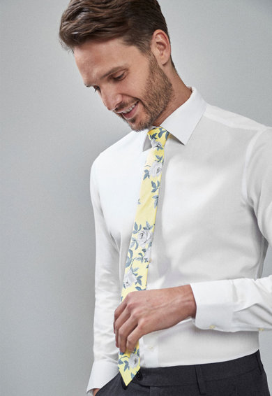 NEXT Set de camasa slim fit, cravata si batista decorativa Barbati