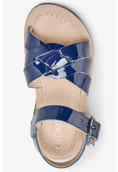 NEXT Sandale de piele lacuita, cu talisman Fete