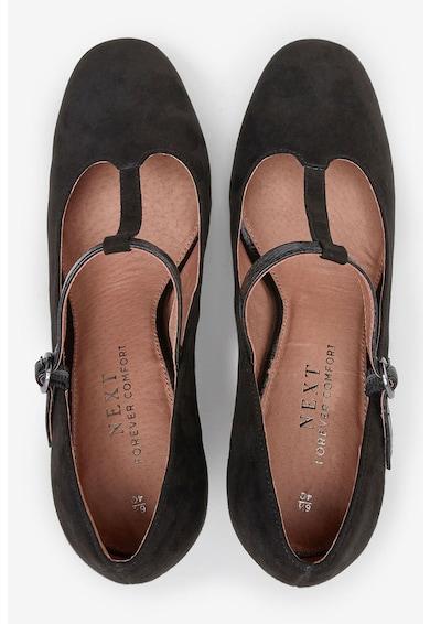 NEXT Pantofi Mary-Jane de piele intoarsa ecologica Femei
