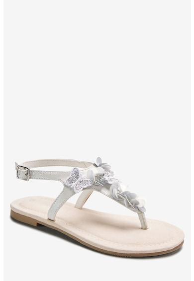 NEXT Sandale cu bareta separatoare si aplicatii fluture Fete