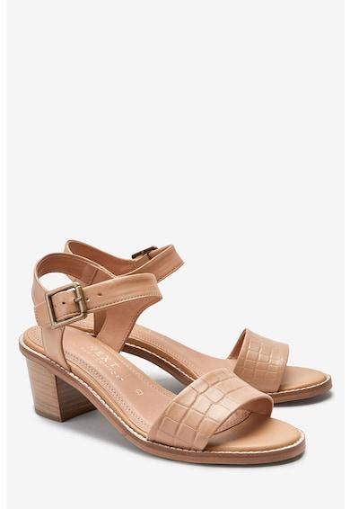 NEXT Кожени сандали с масивен ток Жени