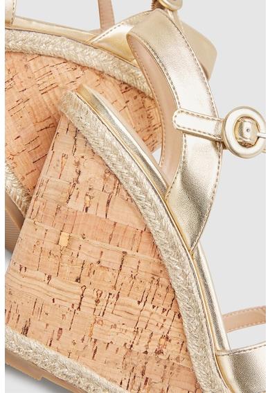 NEXT Sandale wedge de piele ecologica Femei