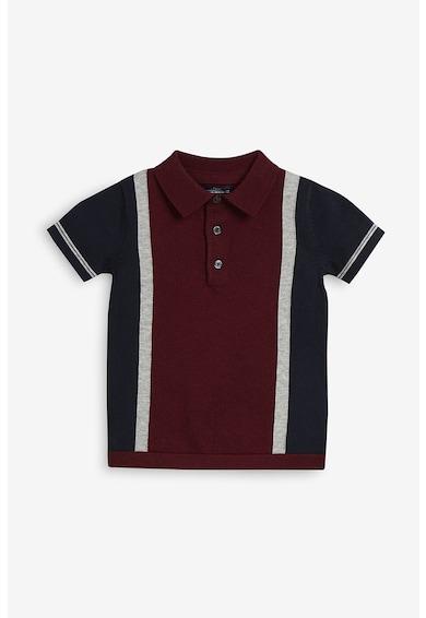 NEXT Tricou polo tricotat, cu model colorblock Baieti
