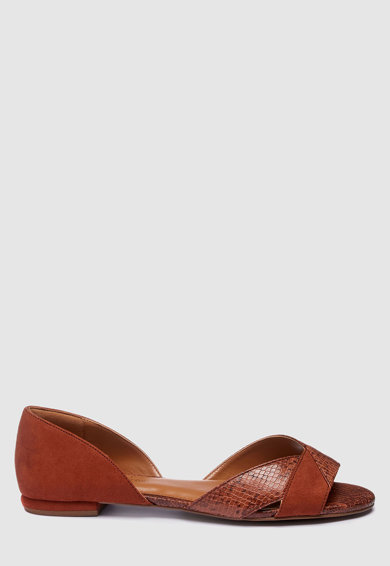 NEXT Sandale de piele ecologica cu decupaj in partile laterale Femei