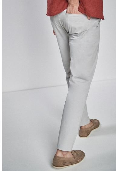 NEXT Pantaloni slim fit din material usor cu o curea Barbati