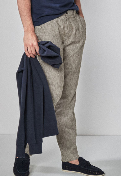 NEXT Pantaloni chino slim fit din amestec de in Barbati