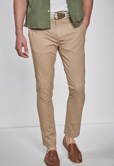 NEXT Pantaloni chino skinny cu o curea Barbati