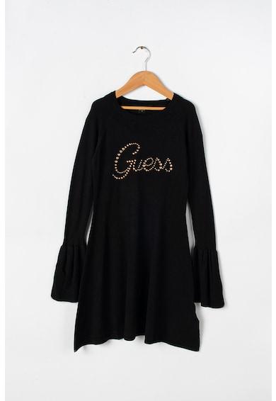 GUESS JEANS Rochie din tricot cu logo cu tinte Fete