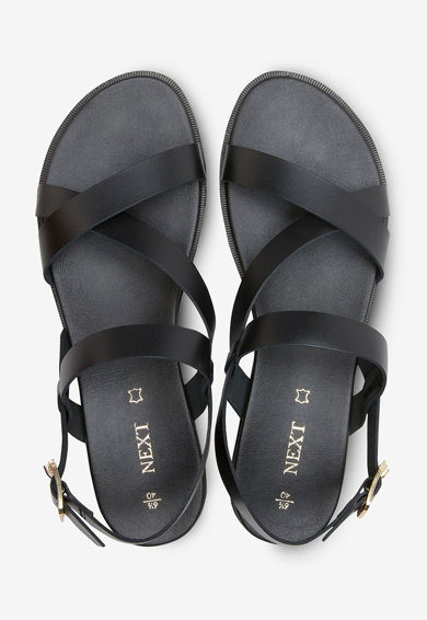 NEXT Sandale de piele, cu barete multiple Femei