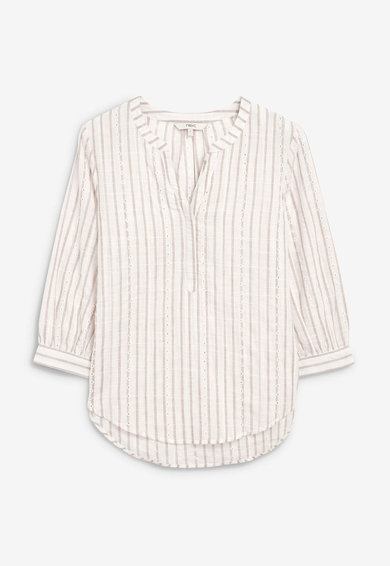 NEXT Bluza ragular fit cu fenta cu nasturi Femei
