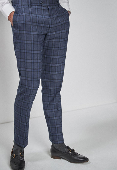 sale retailer 34324 a5427 Pantaloni eleganti slim fit in carouri NEXT