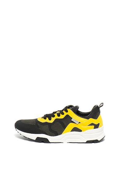 Guess Спортни обувки с еко кожа и мрежа Мъже