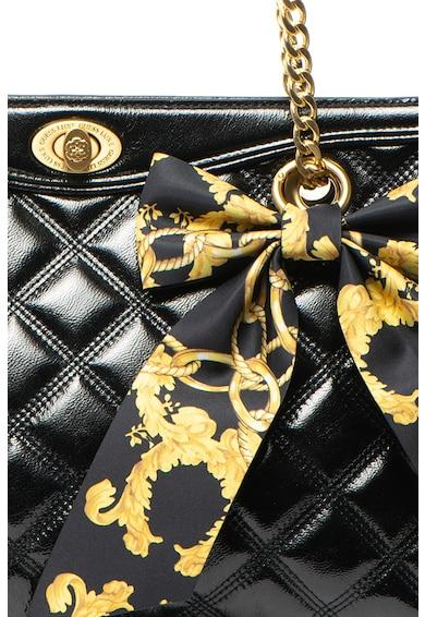 Guess Кожена шопинг чанта с панделка Жени
