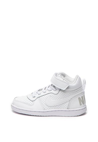 Nike Court Borough középmagas szárú sneaker bőrbetétekkel Lány