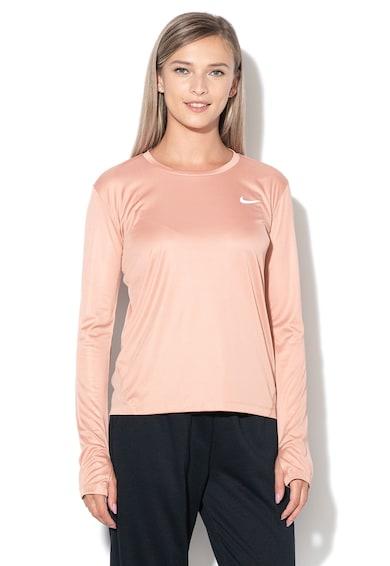 Nike Блуза с мрежести елементи и Dri-Fit за бягане Жени