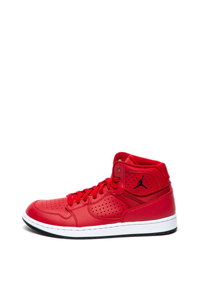 Nike Pantofi sport mid-high cu insertii de piele perforate Jordan Access Barbati