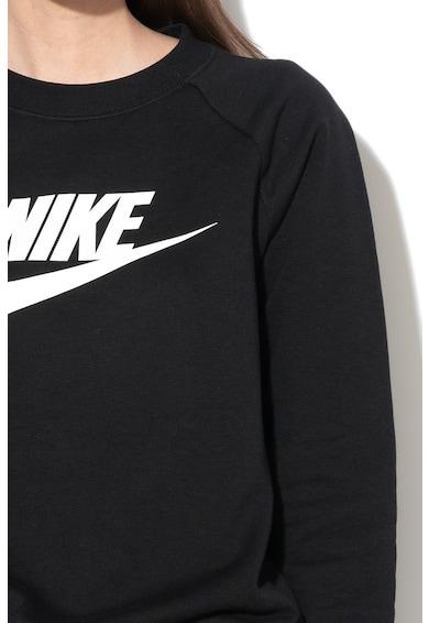 Nike Bluza sport cu decolteu la baza gatului si logo Femei