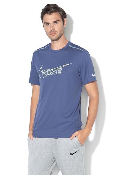 Nike Dri-Fit normál fazonú futópóló hálós részekkel férfi