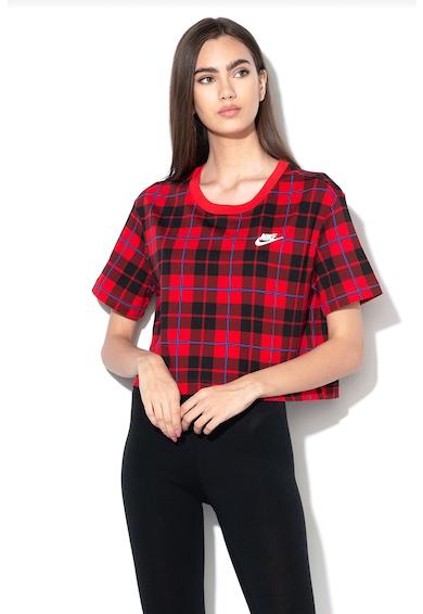 Nike Карирана къса тениска Жени
