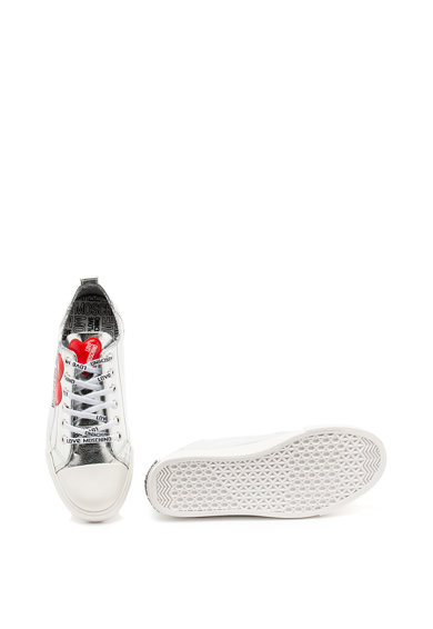 Love Moschino Fémes hatású műbőr sneaker női