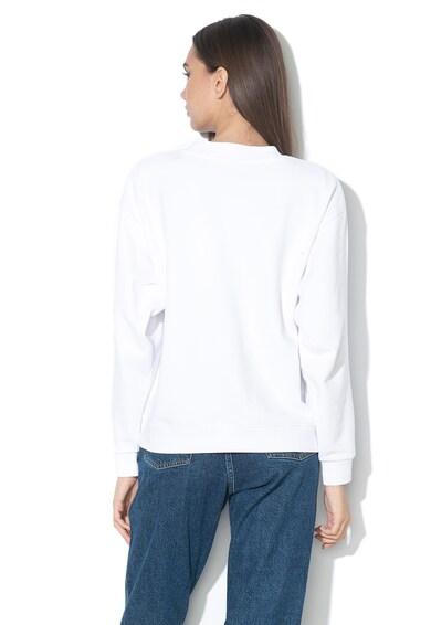 Wrangler Bluza sport cu imprimeu logo si decolteu la baza gatului Femei