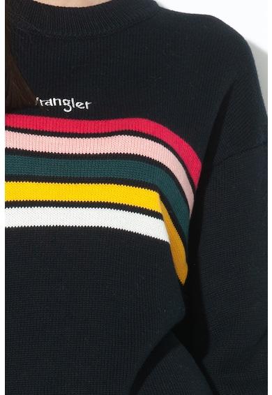 Wrangler Pulover din tricot, in dungi, cu broderie cu logo Femei