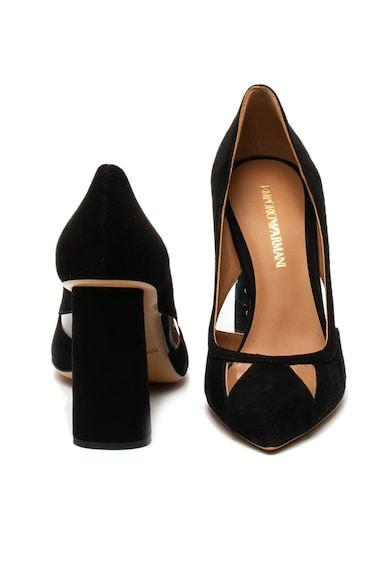 Emporio Armani Pantofi de piele intoarsa sintetica, cu varf ascutit Femei