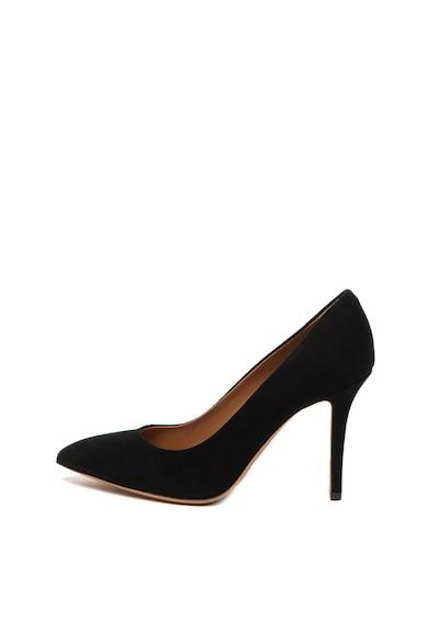 Emporio Armani Pantofi stiletto de piele nabuc, cu varf ascutit Femei