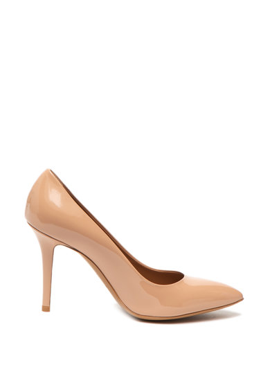 Emporio Armani Pantofi stiletto de piele lacuita, cu varf ascutit Femei