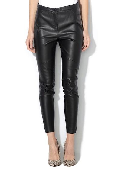 Esprit Pantaloni de piele ecologica, cu fermoare pe glezna Femei