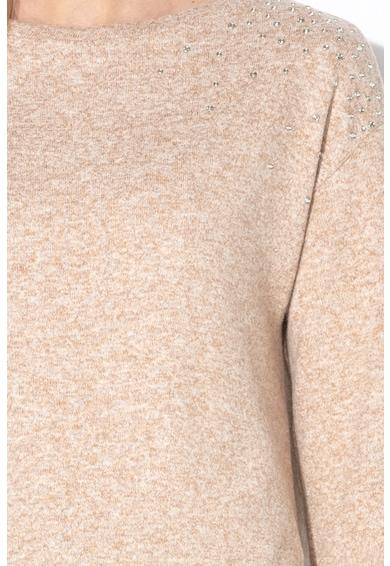 Esprit Пуловер с асиметричен подгъв и декоративни камъни Жени
