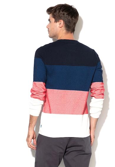 EDC by Esprit Пуловер с цветен блок и релефна повърност Мъже