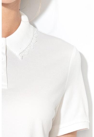 EDC by Esprit Tricou polo cu garnituri striate si detalii de dantela Femei