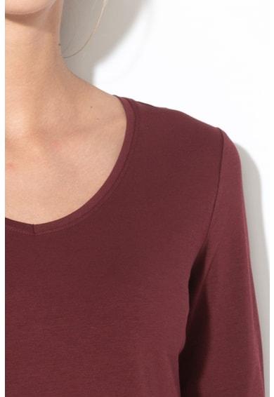 Esprit Bluza din bumbac organic cu decolteu rotund Femei