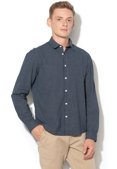 Esprit Camasa regular fit cu model geometric discret Barbati