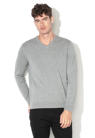 Esprit Organikuspamut V-nyakú pulóver férfi