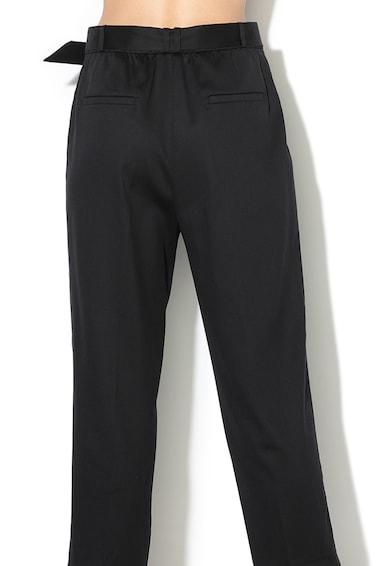Esprit Pantaloni conici din amestec de lyocell, cu o curea Femei