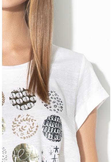 EDC by Esprit Tricou cu imprimeu si terminatie asimetrica Femei