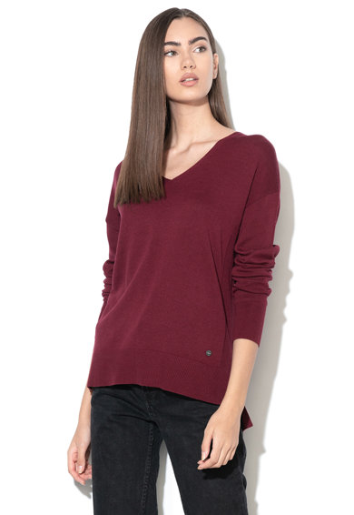 Esprit Раиран пуловер с шпиц деколте Жени