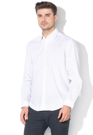 Esprit Camasa regular fit cu model geometric, Barbati