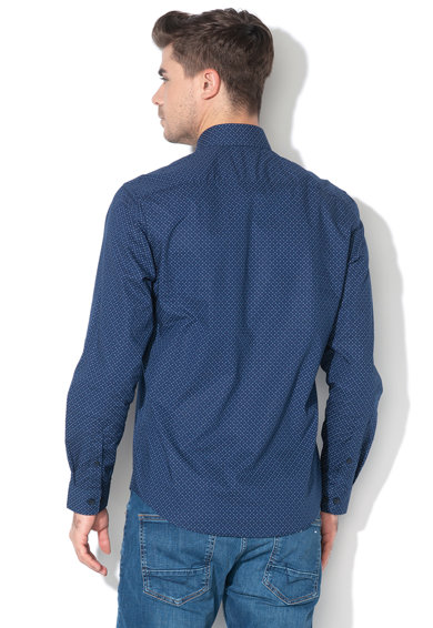 Esprit Camasa regular fit cu model geometric, Barbati