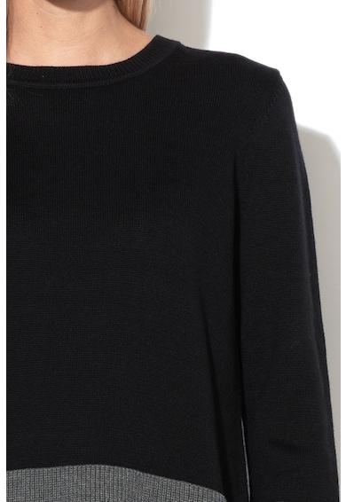 Esprit Pulover din bumbac organic, cu detalii striate Femei
