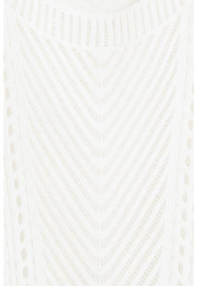 Mango Top cu perforatii si aspect crosetat Fresco Femei